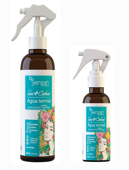 YENZAH água termal para cabelos cacheados