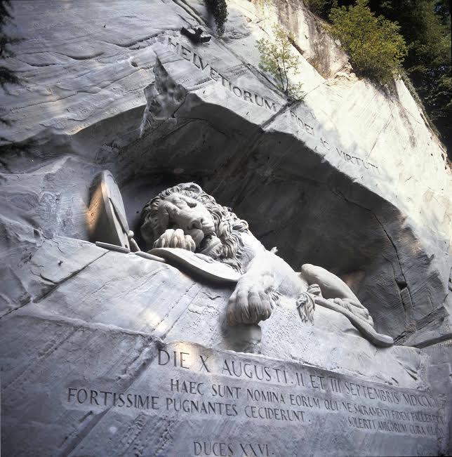 Das Löwendenkmal in LuzernLion Monument, Lucerne